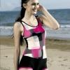 三奇品牌泳装 连体平角泳衣