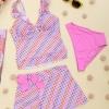 2010金达莱品牌 夏季新款 吊带短裙款两件套背心泳装