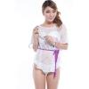 佳奇葩2012时尚纯白色比基尼带披巾