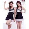 秀梦娜2012 韩国设计游泳衣 连体裙式泳衣 温泉必备