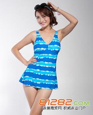 正品平角分体游泳衣 遮肚超显瘦泳装 现货批发 韩国风