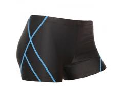 沐琅男士泳衣 特价黑色简约条纹泳裤