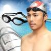 荻荻男女防水防雾平光镜泳镜 休闲游泳眼镜