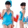 批发新款儿童泳衣 蓝色水上芭蕾泳衣 女童连体韩版泳衣